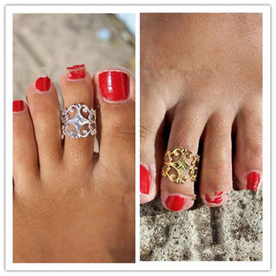 Celebrity Women Vintage Toe Ring Adjustable Foot Fashion Beach Jewelry