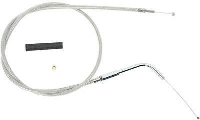 Drag Specialties 39.5 Inch Braided Stainless Throttle Cable For Harley 0650-0409