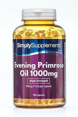 Evening Primrose Oil 1000mg 360 Capsules | Cold Pressed GLA | Hormonal Balance