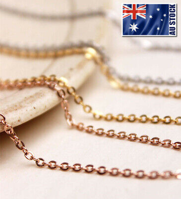 "Stunning 18K Rose Gold Filled 1.5mm Classic Chain Necklace 16 - 24"" Good Quality"