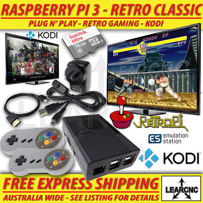 RetroPie Game Console + KODI | RetroPi Raspberry Pi 3