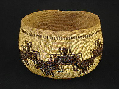 A Karok Basket, Native American Indian, Circa: 1910