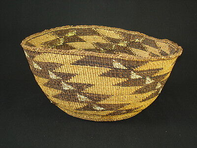 A Large Klamath Basket, Native American Indian, Circa: 1900