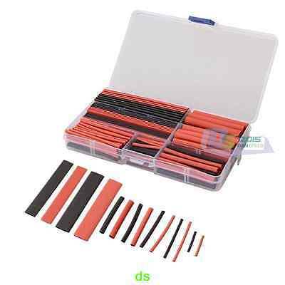 Pro 150PCS Assortment 2:1 Heat Shrink Tube Tubing Sleeving Wrap Wire Cable Box