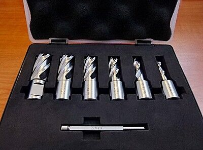 7Pce (12mm-22mmx25mm) HSS Rota Broach Annular Cutter Set for Magnetic Drill