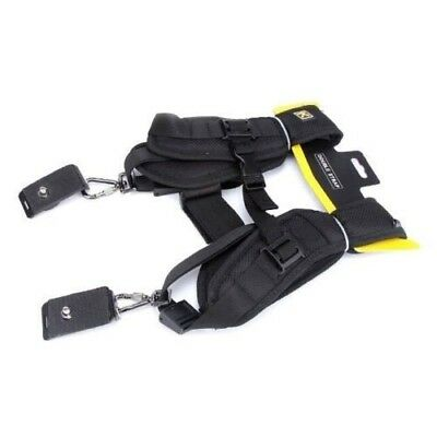 Double Dual Shoulder Quick Release Neck Belt Sling Strap F Two DSLR Camera Nikon