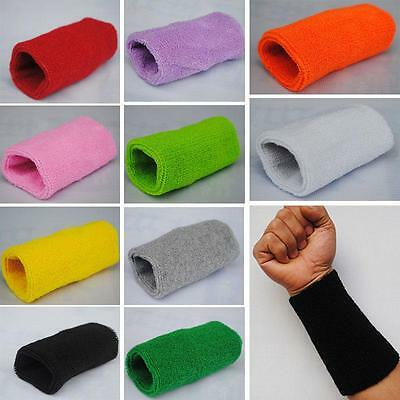 Mens Womens Unisex Sports Cotton Sweat Band Wristband Wrist Band Basketball