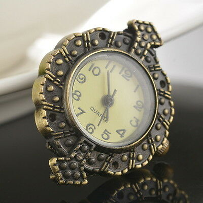 LOVE Retro Trendy Bronze Round Watch Face DIY Jewellery Watch Findings 5x