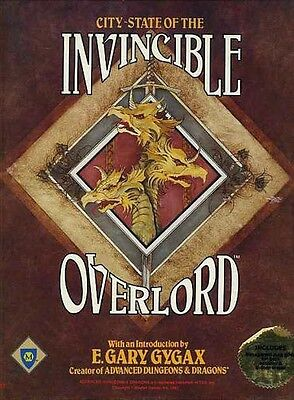 CITY STATE OF THE INVINCIBLE OVERLORD 101 NEW SEALED Gygax  Mayfair Games Inc.