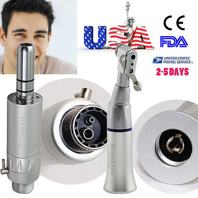 NEW 2 piece Low Speed Handpiece ** Contra Angle + 2-hole E-type Air Motor