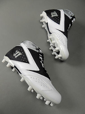 Warrior Lacrosse Burn Sr. 2nd Degree Lax Cleats Black/White (New) Retail for $69
