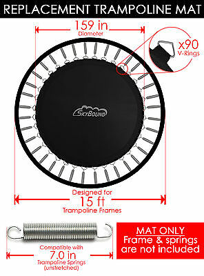"SkyBound 159"" Trampoline Mat w/ 90 V-Rings (Fits w/ 15' Frames & 7.0"" Springs)"