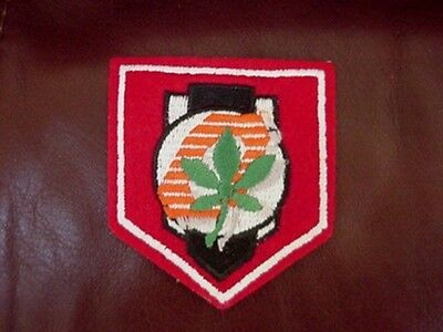 OLD OHIO STATE BUCKEYES 3 1/4 inch SHIELD PATCH UNSOLD STOCK IRON ON