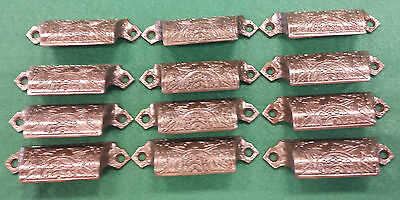 Drawer Handles Pulls/embossed Cast Iron/victorian Style/ Set Of12 (#112B)
