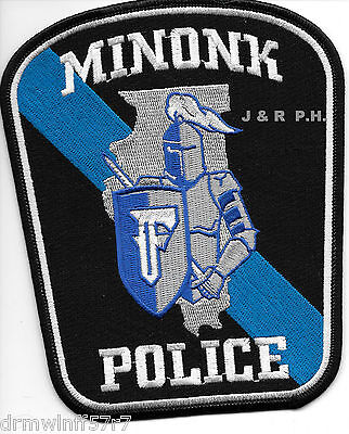 "Minonk, IL  (4.5"" x 5.5"" size) shoulder police patch (fire)"