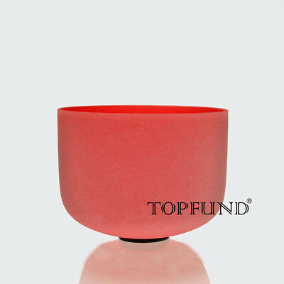 Red C Root Chakra Frosted Quartz Cystal Singing Bowl 12''
