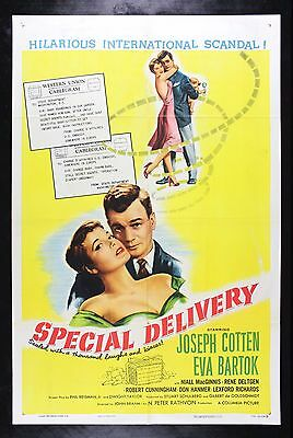 SPECIAL DELIVERY * CineMasterpieces ORIGINAL MOVIE POSTER MAIL USPS 1955