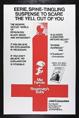 ROSEMARY'S BABY * CineMasterpieces ORIGINAL HORROR MOVIE POSTER 1968 RARE STYLE