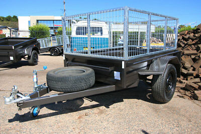 6x4 Heavy Duty Box Trailer with 600mm Cage - 5 Leaf Springs, Box Chassis