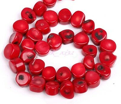 New fashion Natural Coral Gemstone Loose Spacer Beads 16'' A Strand
