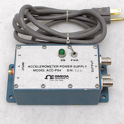 Omega Engineering ACC-PS4 Accelerometer Power Supply for ACC301 Triaxial
