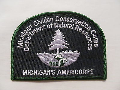 Michigan Civilian Conservation Corps Americorps DNR Collectible Patch