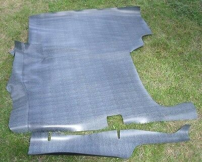 66 Chevrolet Corvair Trunk Mat Rubber Gray Houndstooth