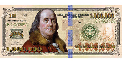 100 Franklin Million Dollar FAKE Play Funny Money Bill w/Gospel Tract 1,000,000