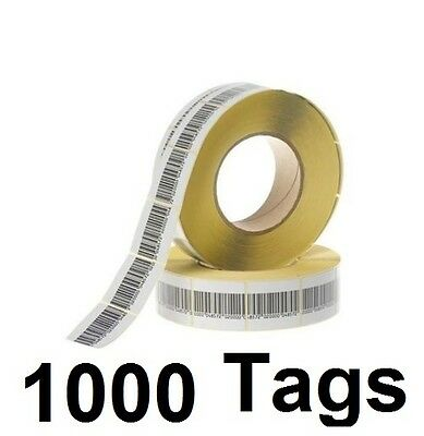1000 PCS EAS CHECKPOINT® BARCODE SOFT LABEL TAG 8.2  3 X 4 cm 1.18 X 1.57 inch
