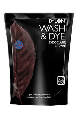 400g CHOCOLATE BROWN DYLON MACHINE WASH & DYE FABRIC CLOTHES TEXTILE COLOUR