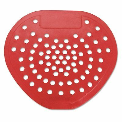 "Health Gards Urinal Screen, 7 3/4""w x 6 7/8""h, Red, Cherry, Dozen - HOS03901"