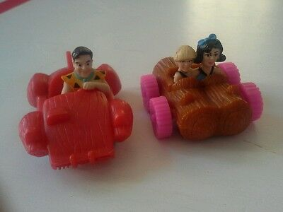 Vintage flintstones amblin toy  fred, barnie & betty lot of 2 (cur3)