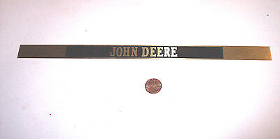 "JOHN DEERE TRACTOR BRASS NAME PLATE DEALER PIECE 70's ? 12"" X 3/4"""