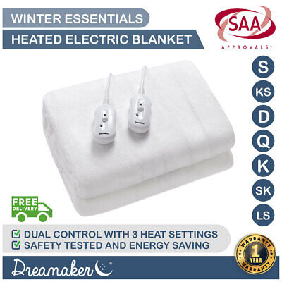 Extra Soft  Fully Fitted Electric Heated Blanket/Underblanket - All Sizes