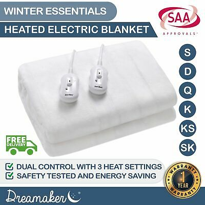 NEW EXTRA Soft Fully Fitted Electric Heated Blanket Underblanket Winter ALL SIZE
