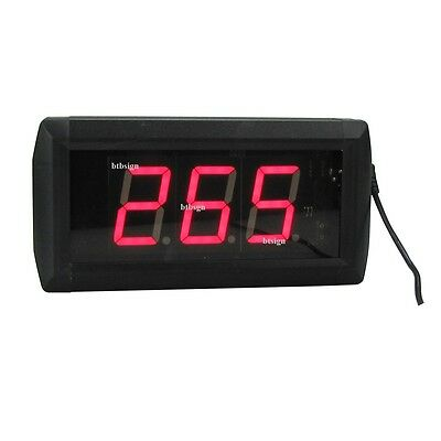 1.8'' LED Number Counter Control By Buttons & Keypad For Queue Management System