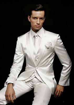 2019 White Men's Wedding Suits Groom Tuxedos Formal Business/Party/Dinner Suits