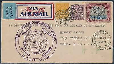 Lz127 Zeppelin 1929 Round The World Flight Cover To New York City Bs2982