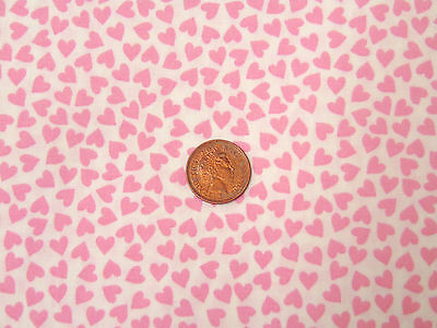 1:12 Scale White Material With Pink Hearts Dolls House Miniature Accessory U