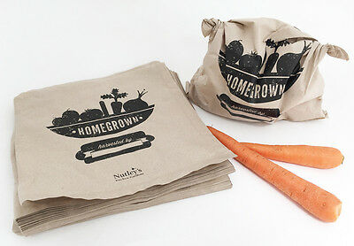 Nutley's home grown produce grocery paper bags grow your own gifts storage