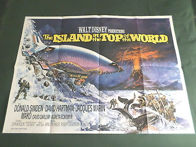 Island At The Top Of The World  - Original Movie Poster - Uk Quad - Folded