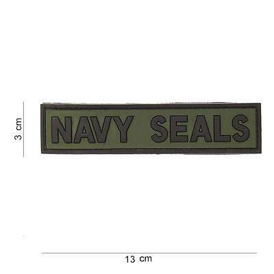 NEW 3D PVC US Navy Seals Tactical Military Army Velcro Morale Patch Green