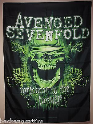 Avenged Sevenfold A7X Welcome To The Family 29X43 Cloth Fabric Poster Flag New