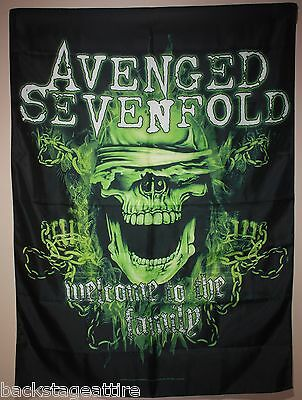 Avenged Sevenfold A7X Welcome To The Family Textile Fabric Cloth Poster Flag-New