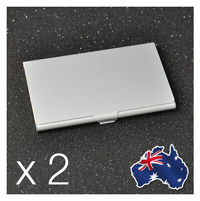 2 x Aluminium Metal Business Card Holder Case Credit ID