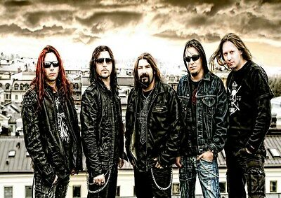 Firewind 3 Photo Rock Band Print Heavy Metal Legends Picture Retro Music Poster