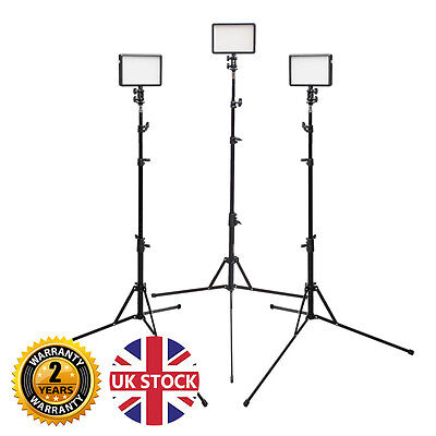 Powerful LED308 Video Lighting Kit Portable Video Lights DSLR DV Film interview