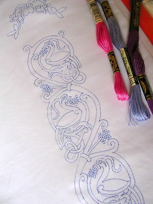 Ready to embroider pillow cases Celtic Tree of Life
