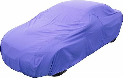 Soft Indoor Poly-Cotton Breathable Full Car Cover-In Blue Size-F