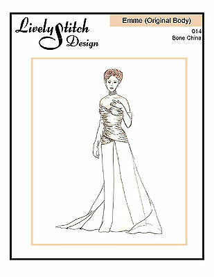 sewing pattern for the Emme doll by Tonner Chandelier Evening Original Body